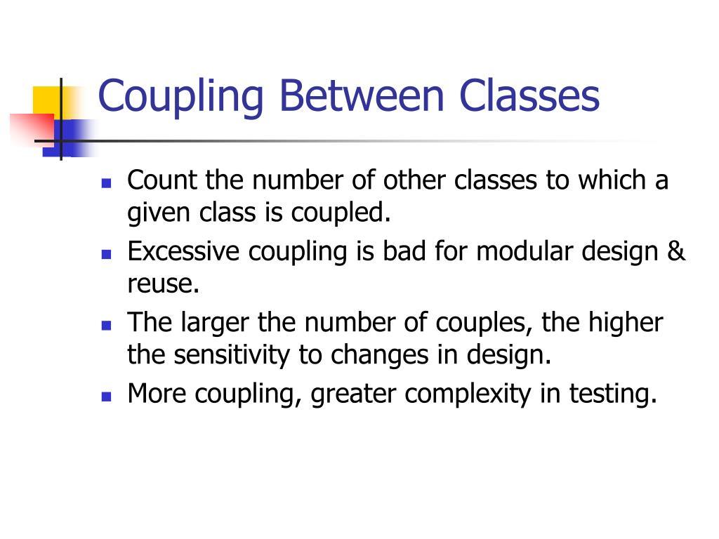 Coupling Between Classes