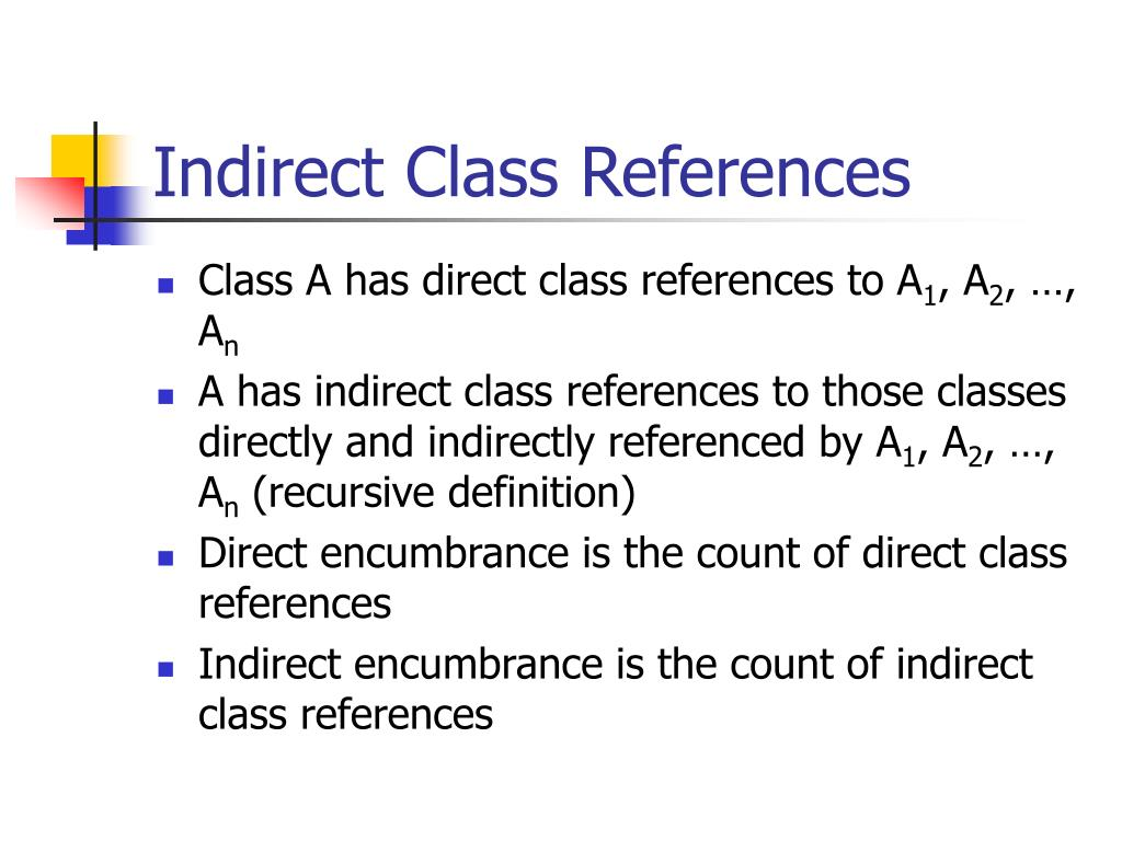 Indirect Class References