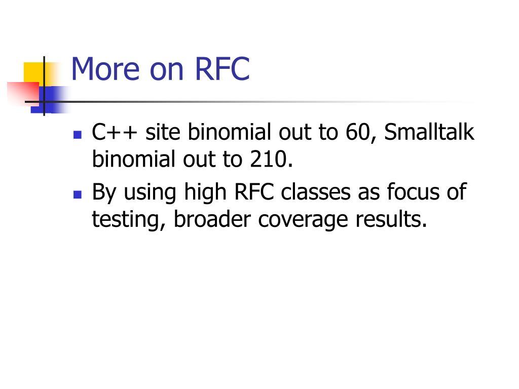 More on RFC