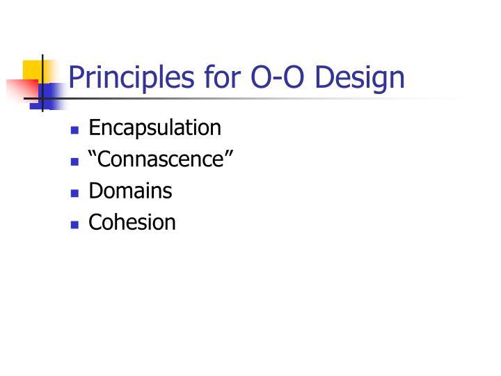 Principles for o o design