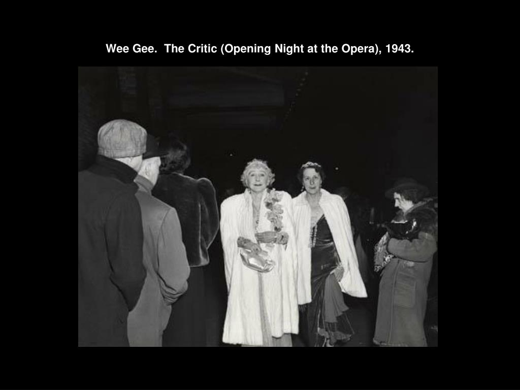 wee gee the critic opening night at the opera 1943 l.