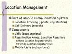 location management