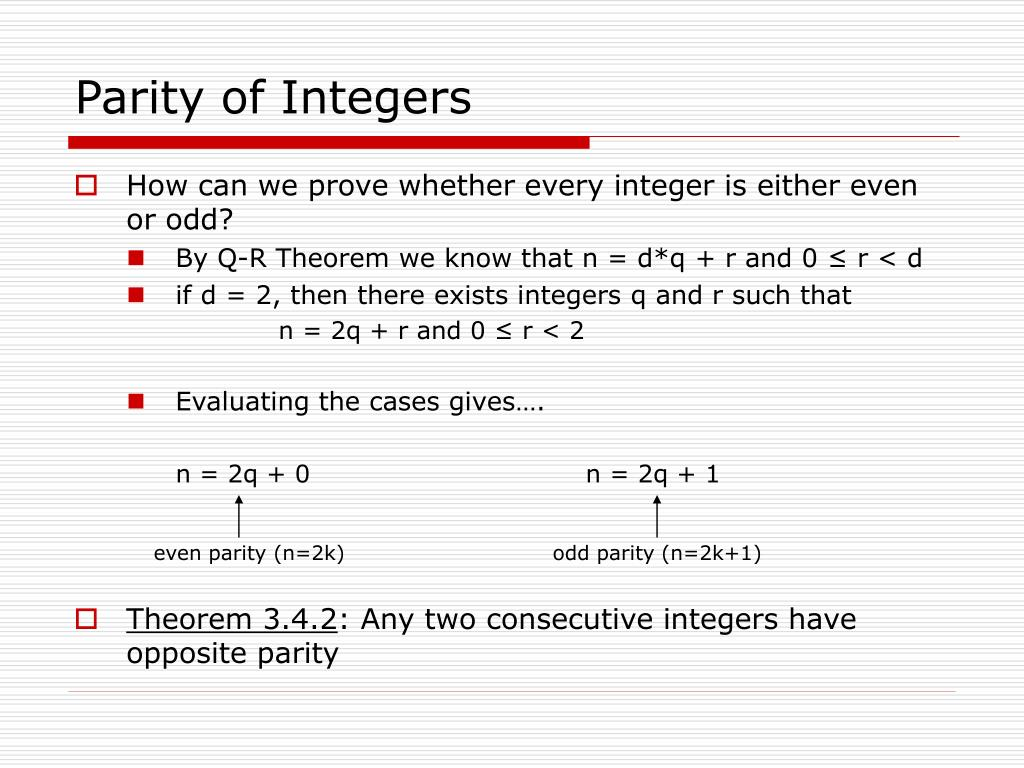 Parity of Integers