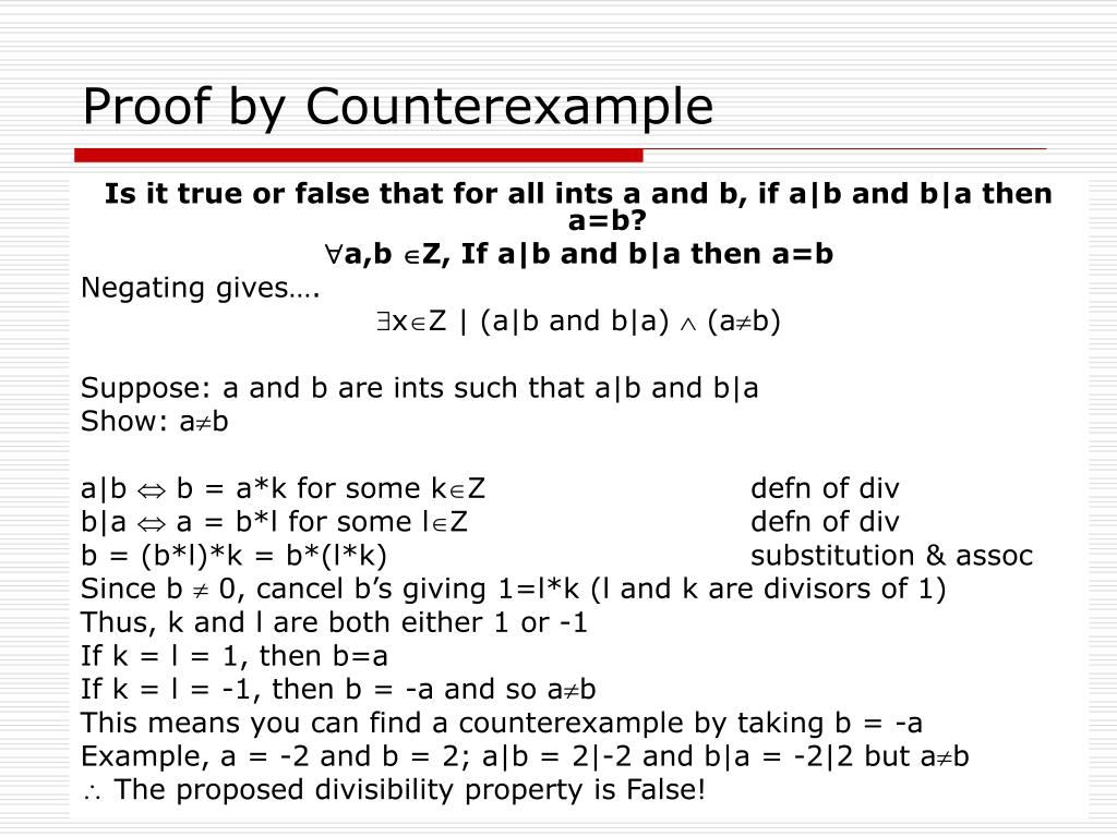 Proof by Counterexample