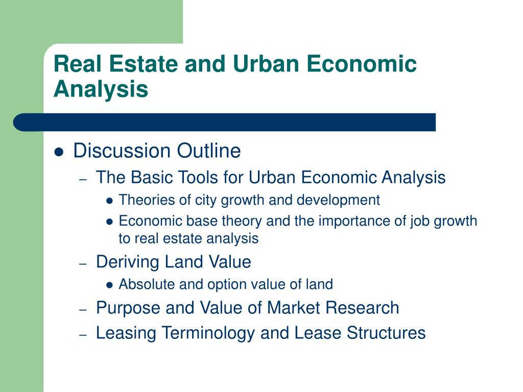 PPT - Real Estate and Urban Economic Analysis PowerPoint