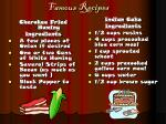 famous recipes