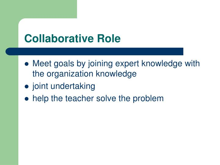 Collaborative Teaching Goals ~ Ppt go ahead make my day easier consultation