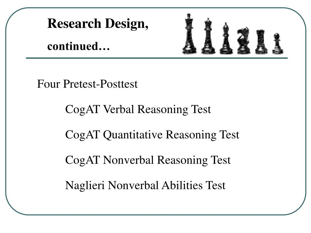PPT - The Relationship Between Classroom Chess Instruction