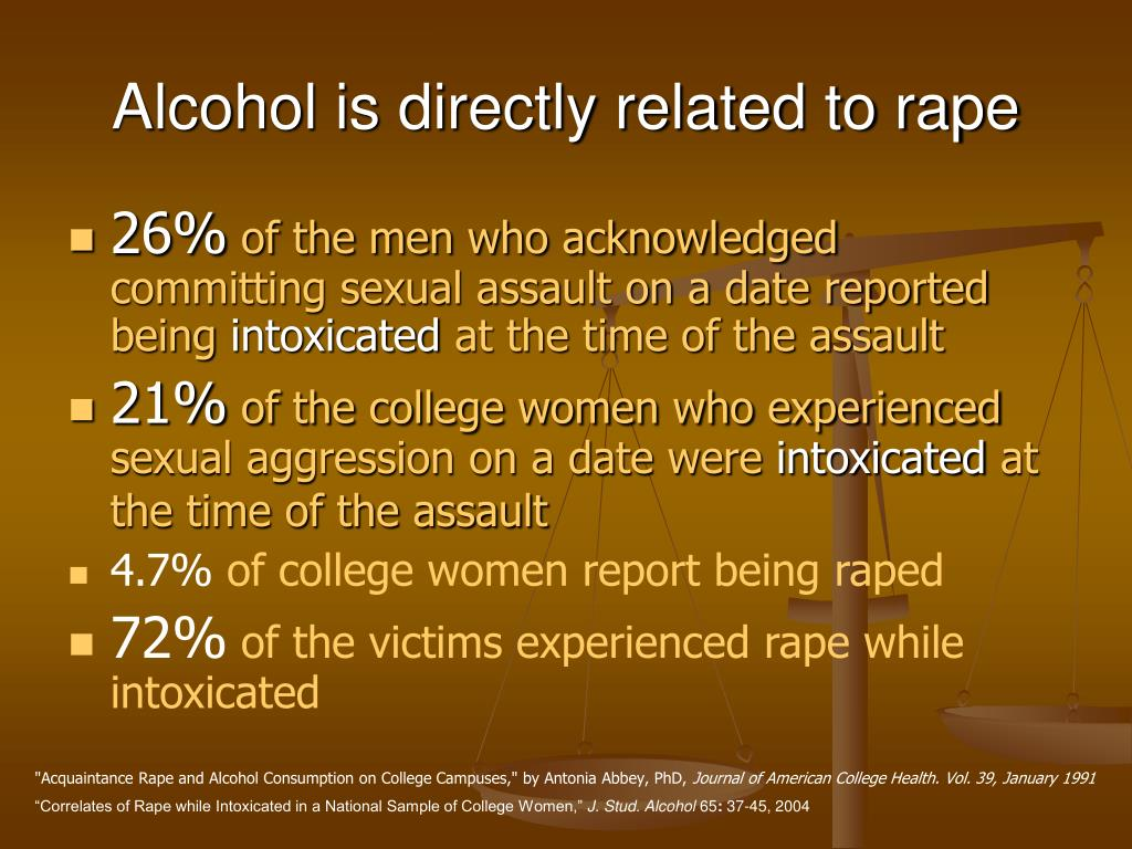 Alcohol is directly related to rape