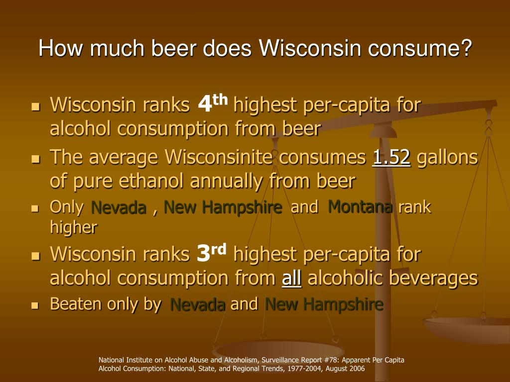 How much beer does Wisconsin consume?