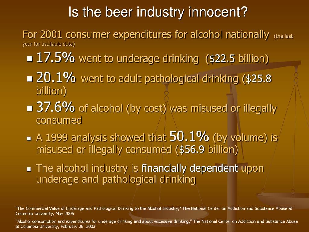 Is the beer industry innocent?