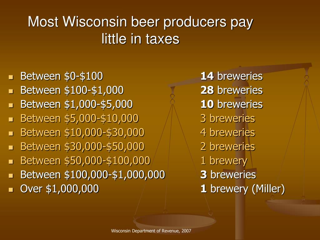 Most Wisconsin beer producers pay little in taxes