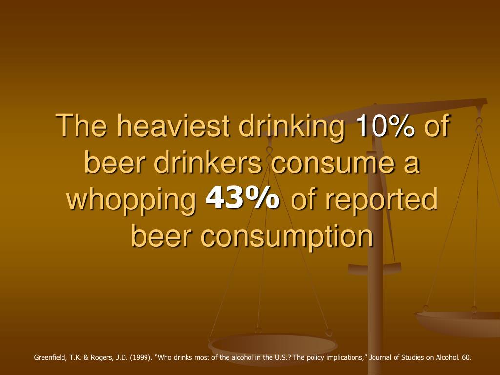The heaviest drinking