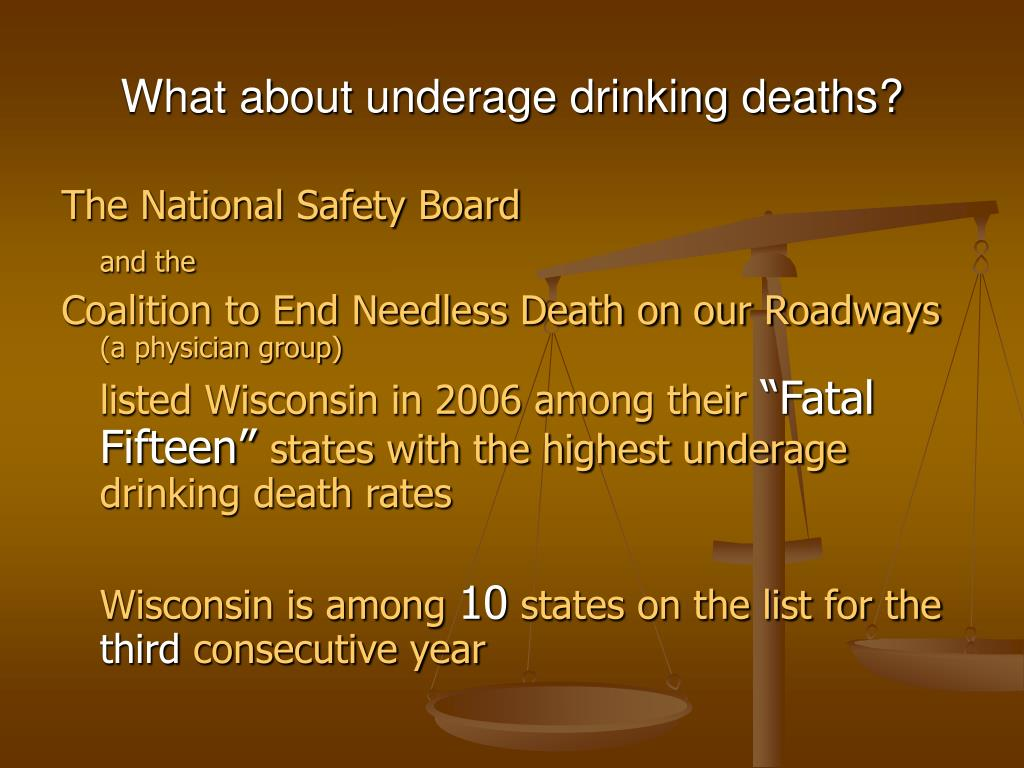 What about underage drinking deaths?