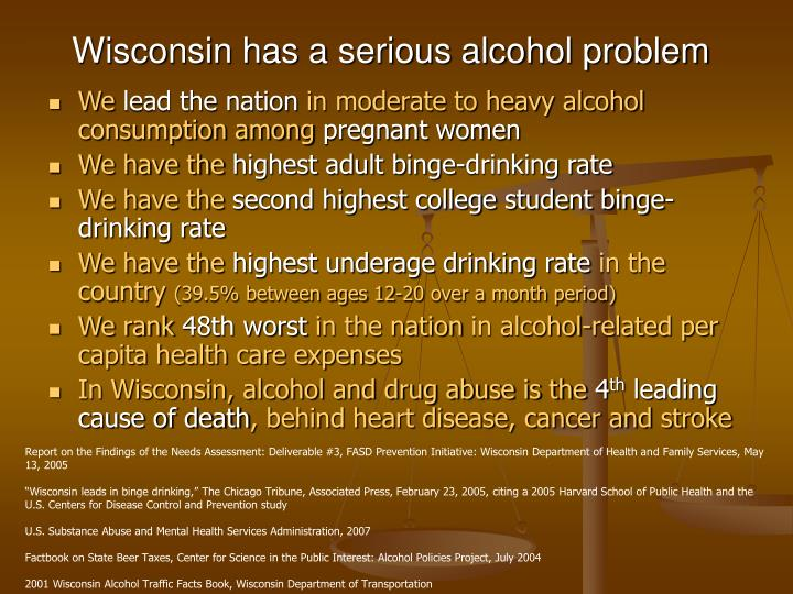 Wisconsin has a serious alcohol problem