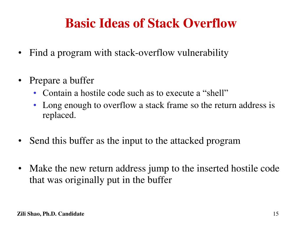 Basic Ideas of Stack Overflow