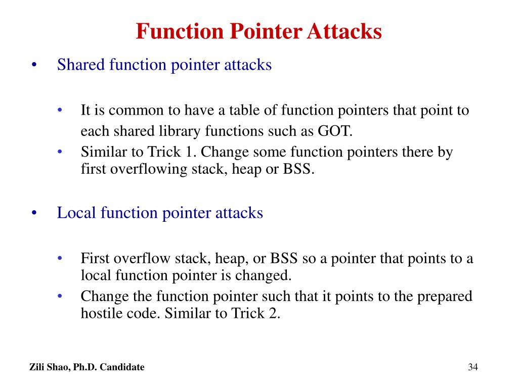 Function Pointer Attacks
