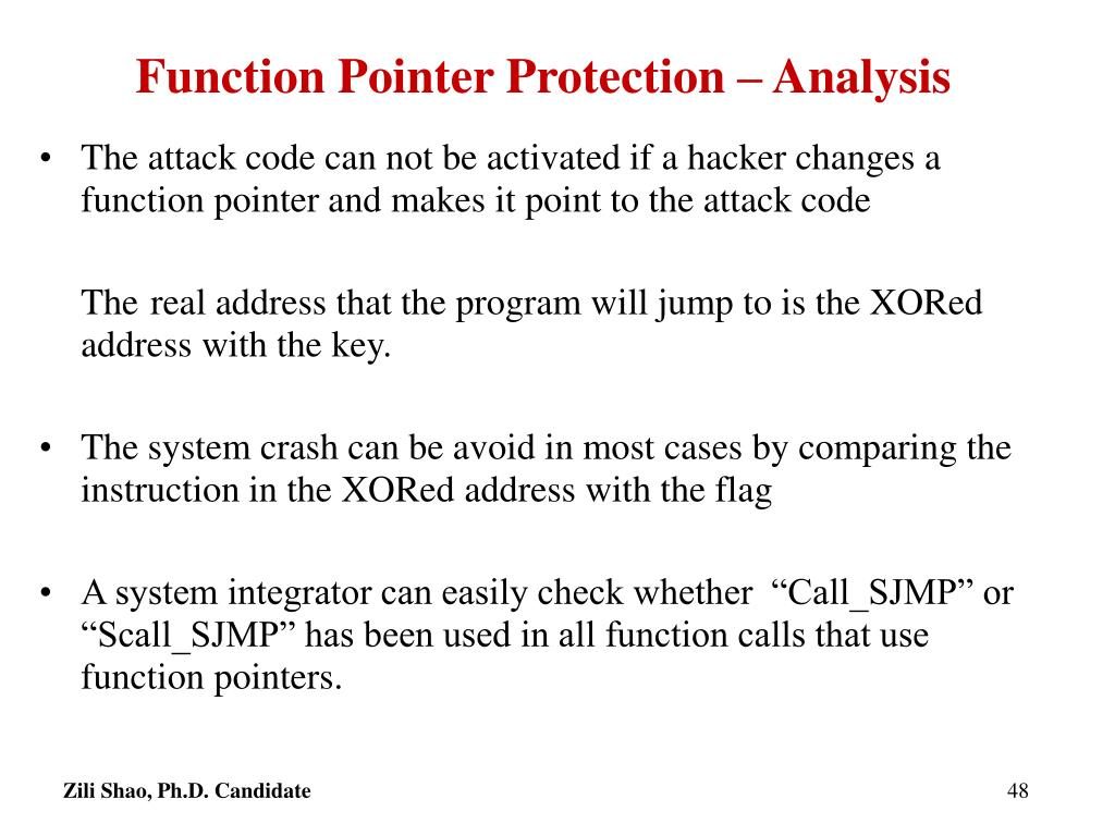 Function Pointer Protection – Analysis