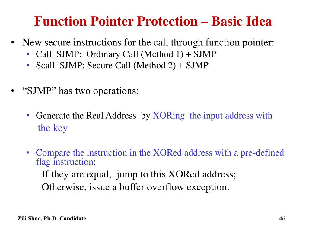 Function Pointer Protection – Basic Idea