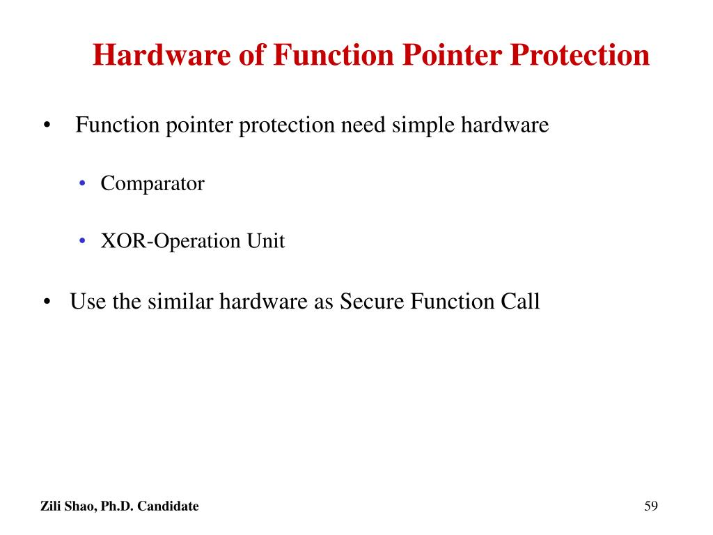 Hardware of Function Pointer Protection