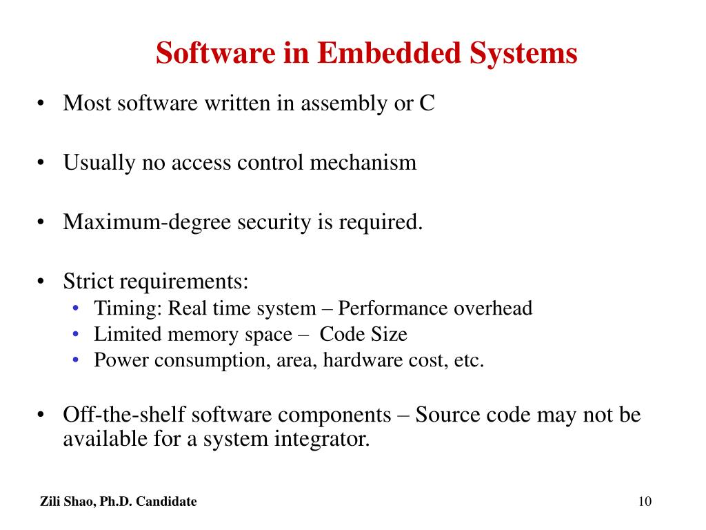 Software in Embedded Systems