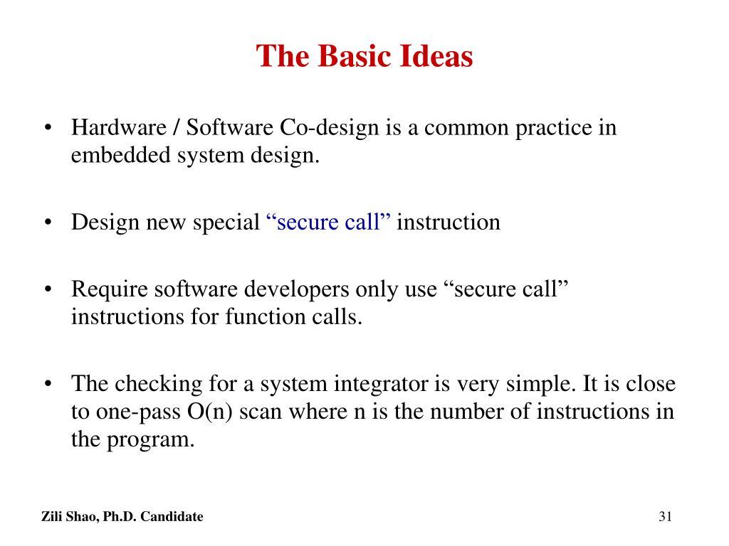 The Basic Ideas