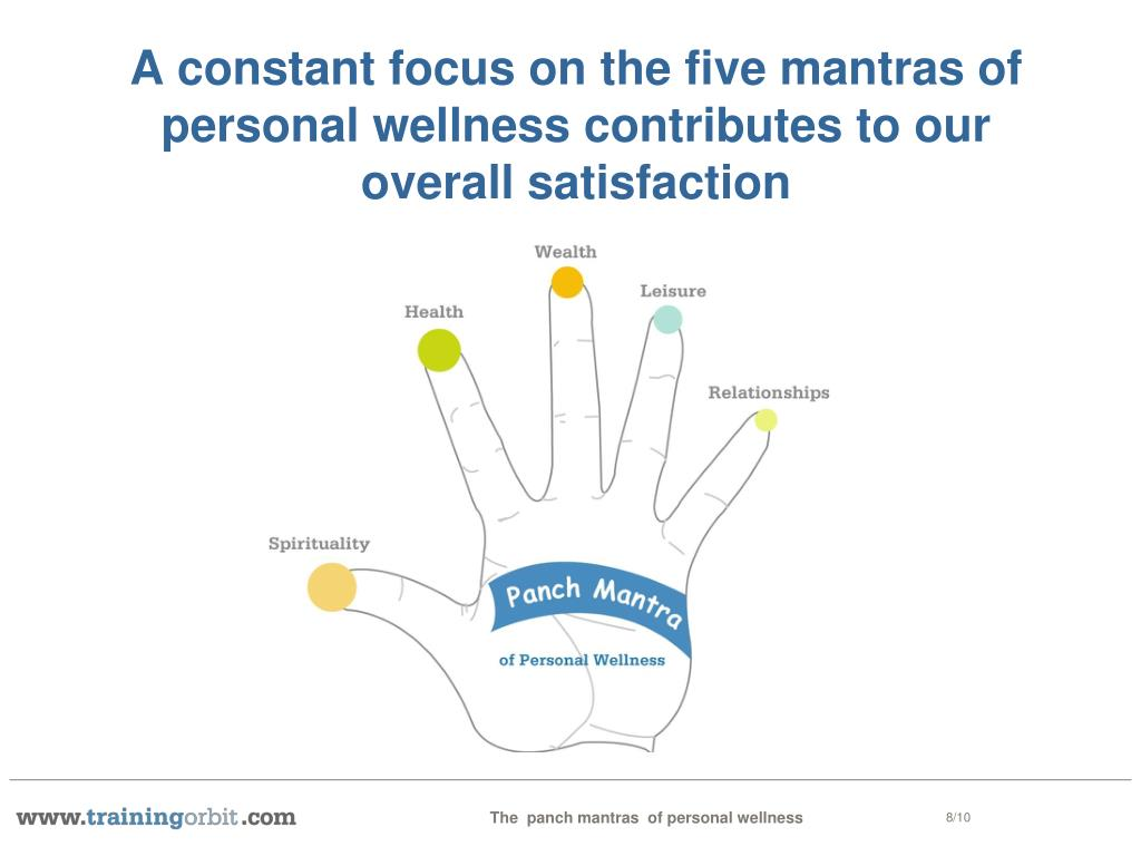 A constant focus on the five mantras of personal wellness contributes to our overall satisfaction