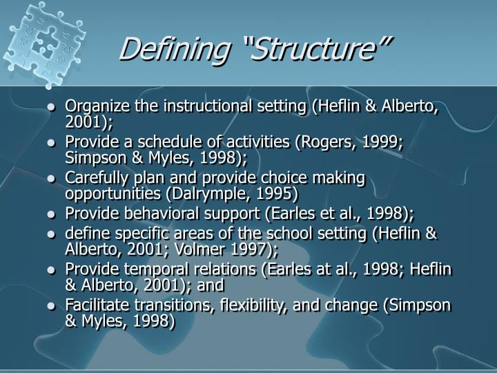 """Defining """"Structure"""""""