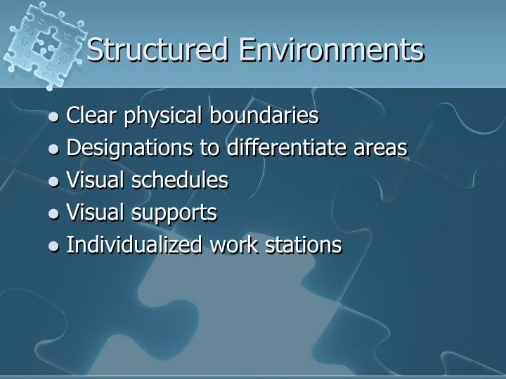Structured Environments