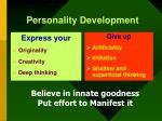 personality development7