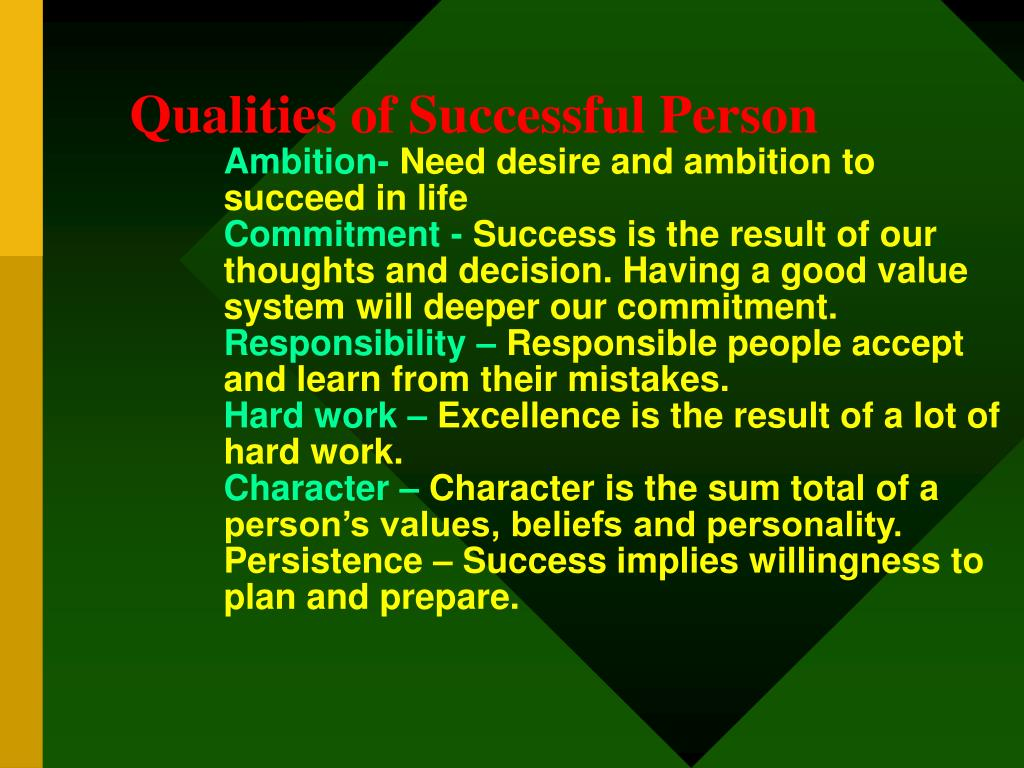 Qualities of Successful Person