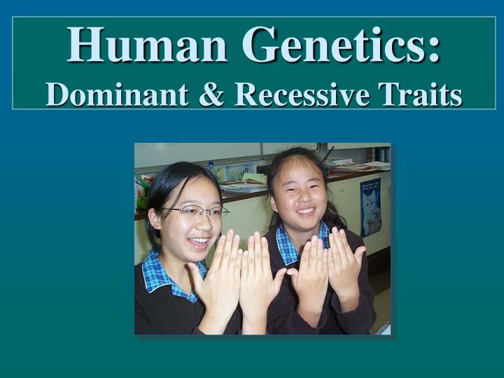 human genetics dominant recessive traits n.