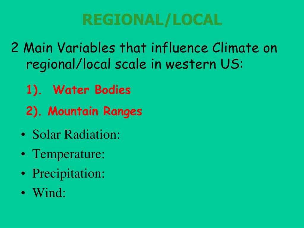 REGIONAL/LOCAL
