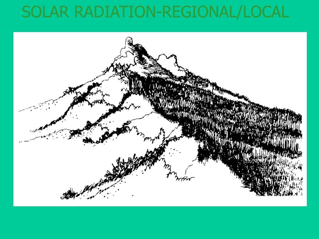 SOLAR RADIATION-REGIONAL/LOCAL