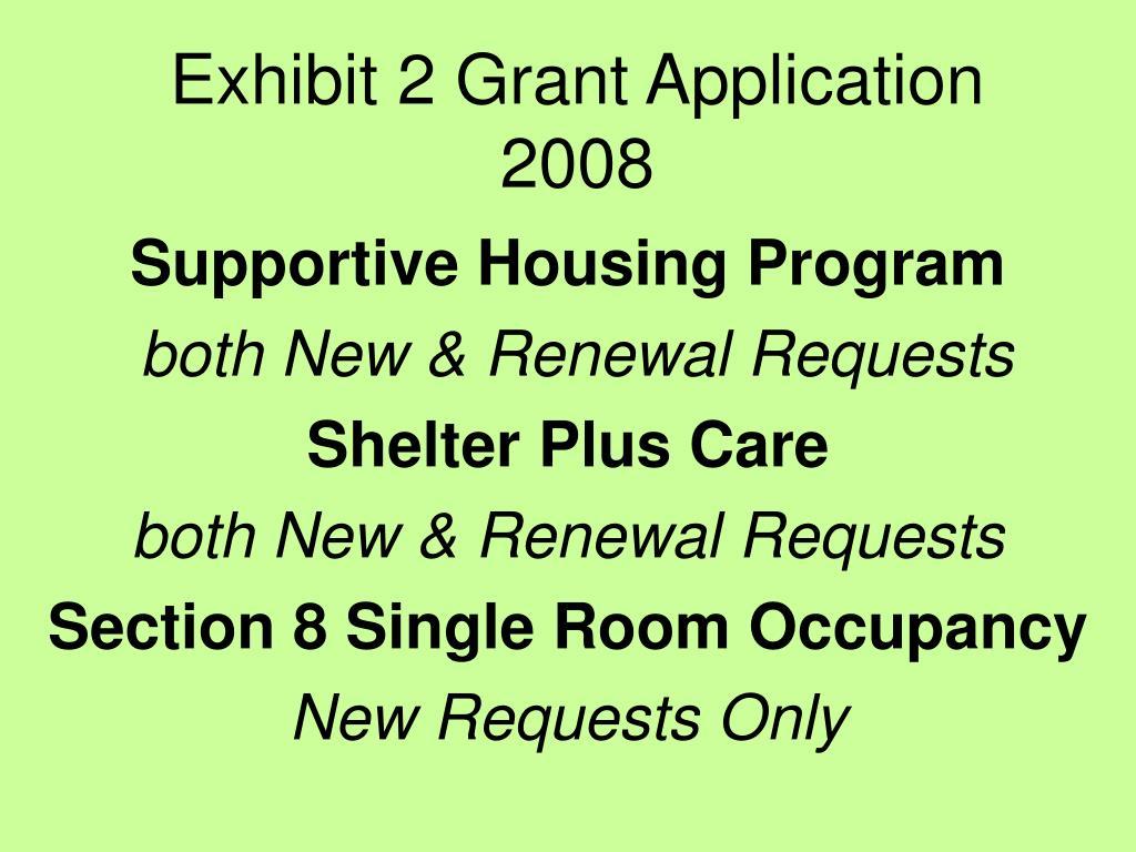 exhibit 2 grant application 2008 l.