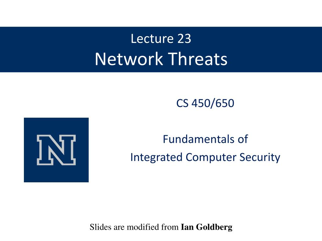 lecture 23 network threats l.