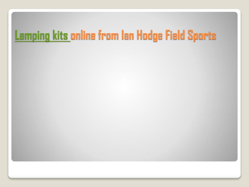 lamping kits online from ian hodge field sports l.