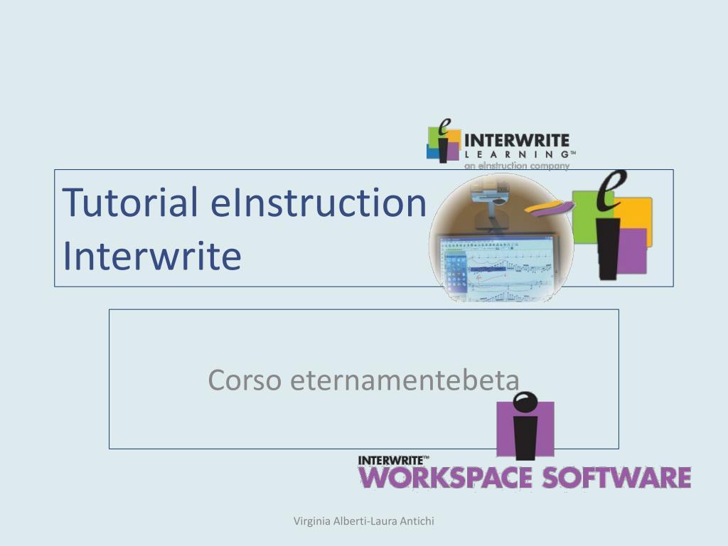 tutorial einstruction interwrite l.