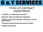 types of contract undertaken