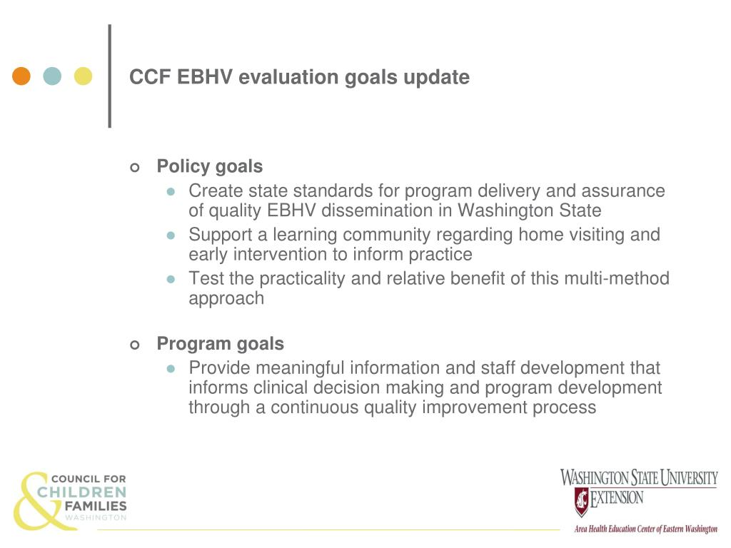 CCF EBHV evaluation goals update