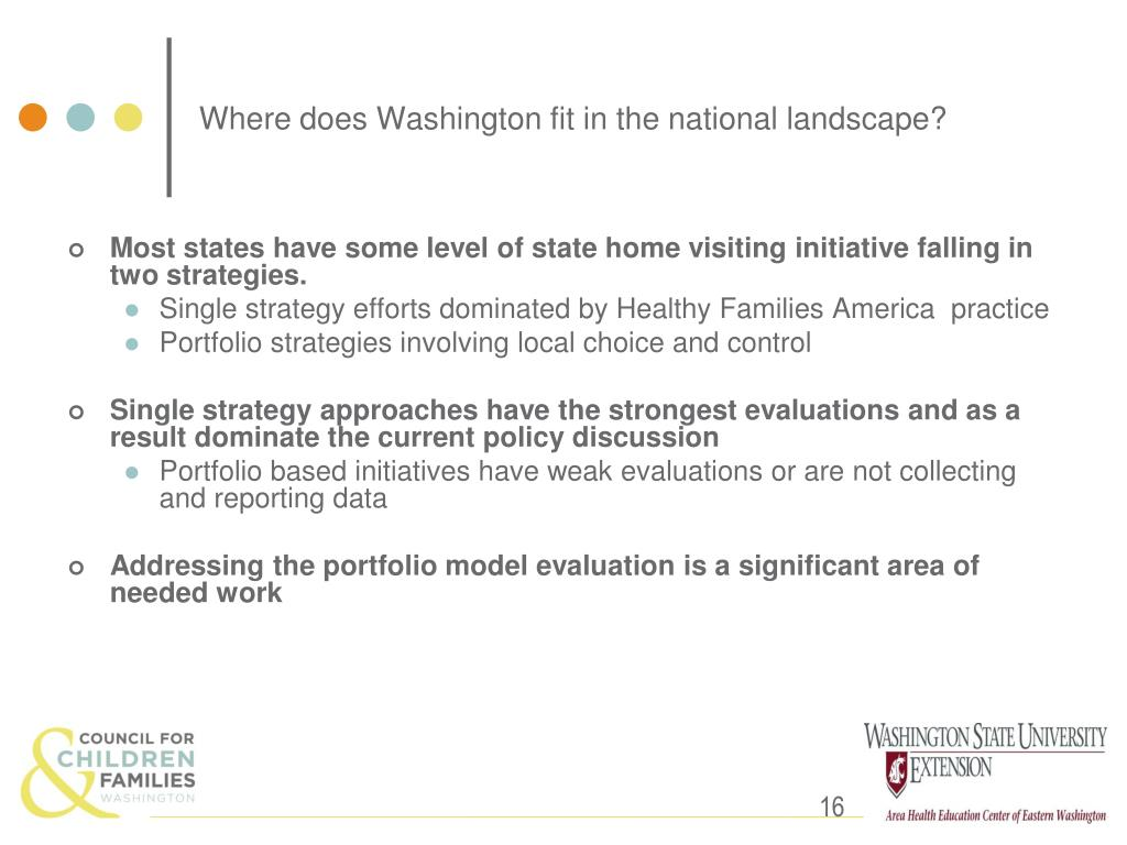 Where does Washington fit in the national landscape?