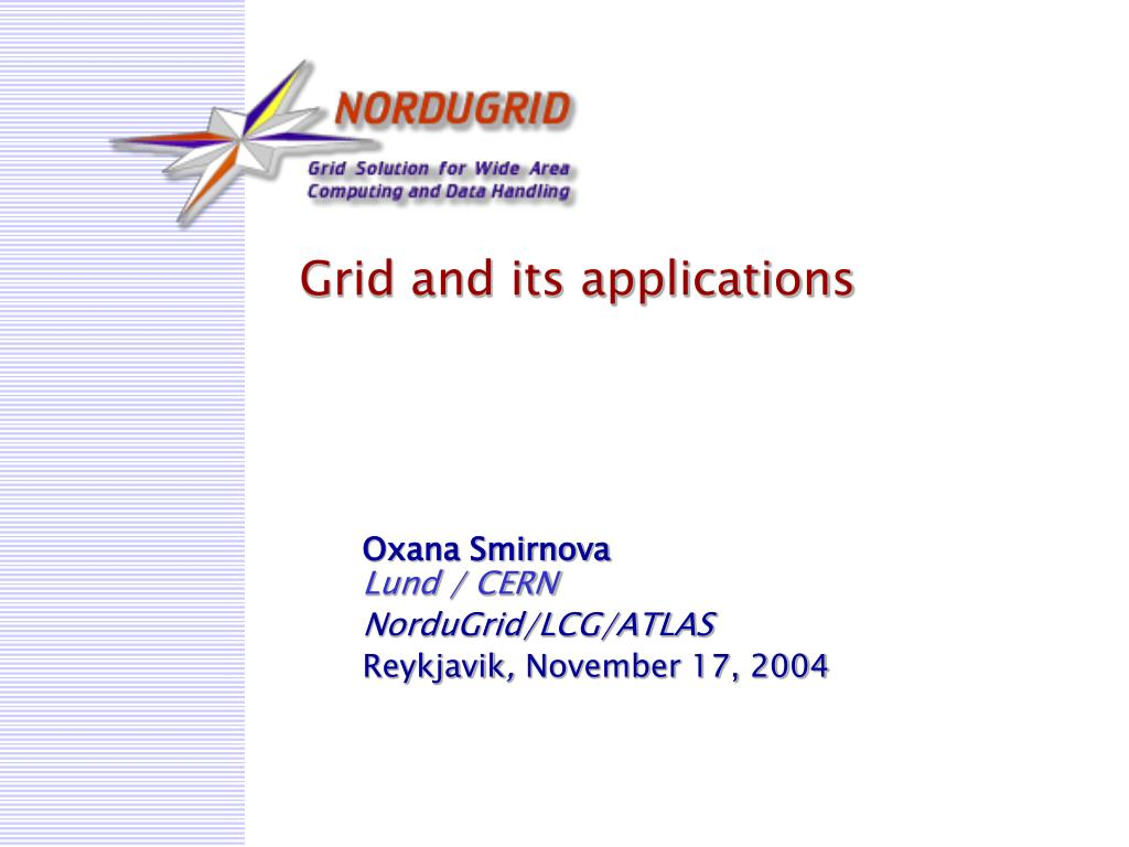 grid and its applications l.