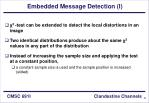 embedded message detection i