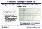embedded message detection ii