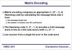 matrix encoding