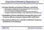 sequential embedding steganalysis i