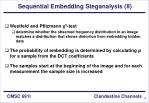 sequential embedding steganalysis ii