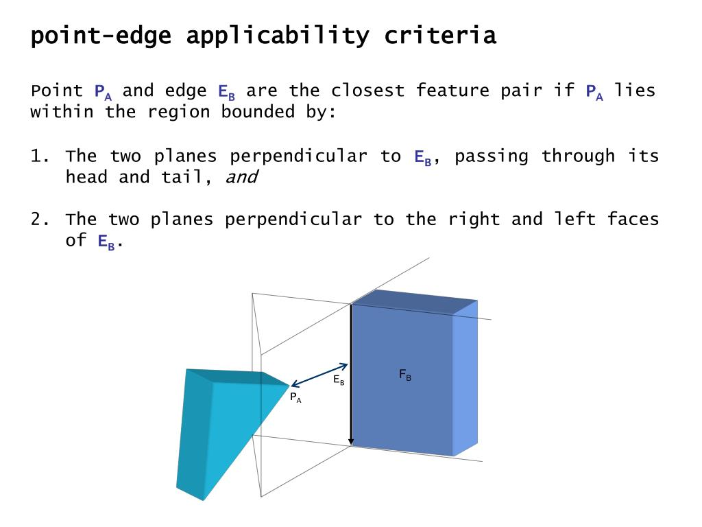 point-edge applicability criteria
