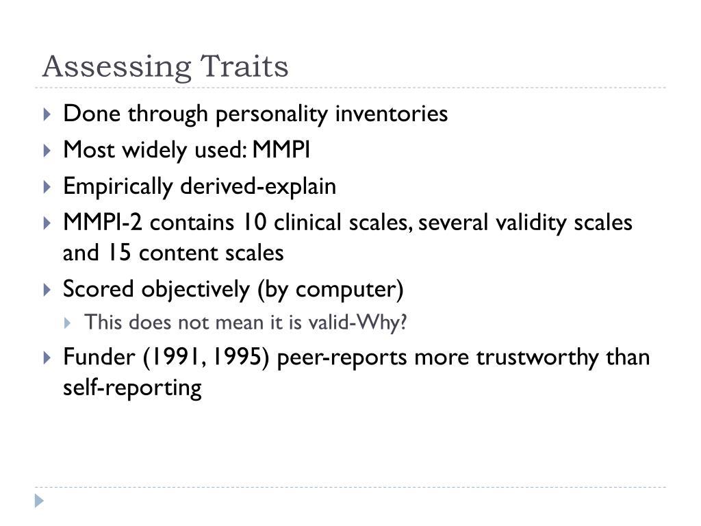 Assessing Traits
