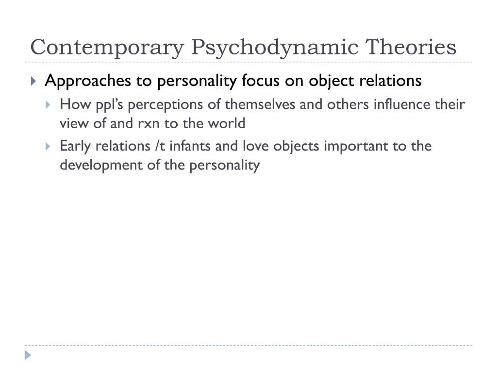 Contemporary Psychodynamic Theories